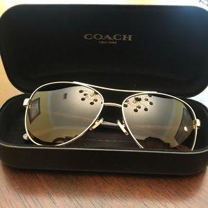 Coach mirrored sunglasses